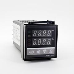 """1.2 """"johti 100-240 rex-C100 K-tyypin lämpötila + lämpöparin"""