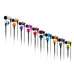 3.5mm المكونات في سماعة الأذن مع الميكروفون&التحكم في مستوى الصوت لفون وسامسونج وغيرها (ألوان متنوعة)