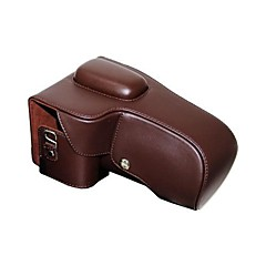 Dengpin® Leather Protective Camera Case Bag Cover for Nikon D5200 D5300 with 18-55mm Lens (Buckles in Ramdon color)