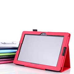 cuero de la PU proteger la tableta cubierta de la caja soporte para A7600 lenovo