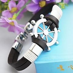 leme do vintage jóias pu pulseira artesanal