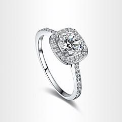 Hearts & Arrows Ideal Cut Swiss Cubic Zirconia Diamond Halo Engagement Ring