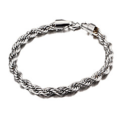 Width 6mm,Silver Plated Royal Cheap Swirl Braid Figaro Chain Bracelet
