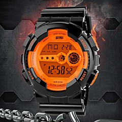 Men's Multifunctional Digital Rubber Band Sporty Wrist Watch (Assorted Colors)
