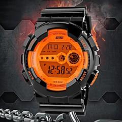 SKMEI Masculino Relógio Esportivo Relogio digital Digital LED LCD Calendário Cronógrafo Impermeável alarme Borracha Banda PretaPreto