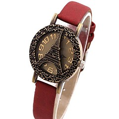 Women's Retro Fashion Hollow Tower Watch Sen Female Leisure Series PU Table Assorted Colors Cool Watches Unique Watches
