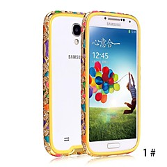 SHENGO™ Luxury Crystal Rhinestone Inlaid Style With Soft TPU Insert Protection Metal Case for Samsung S4 i9500