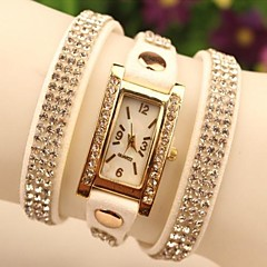 Women's Full Rhinestone Chain PU Band Quartz Analog Casual Bracelet Watch (Assorted Colors) Cool Watches Unique Watches