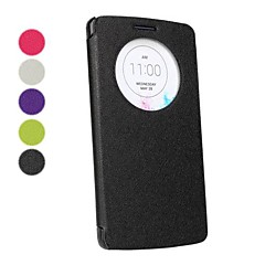 View Window Ultrathin Solid Color PU Leather Full Body Case for LG G3