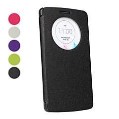 Mert LG tok Betekintő ablakkal / Flip Case Teljes védelem Case Egyszínű Kemény Műbőr LG LG G3
