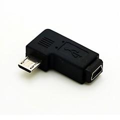 bal könyök 90 fokos micro usb male mini USB hosszabbító adapter női conventer