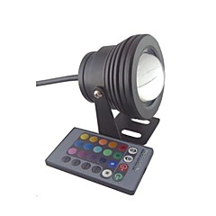 10W RGB Light Remote Controlled LED Spot Bulb Underwater Lamp (12V)
