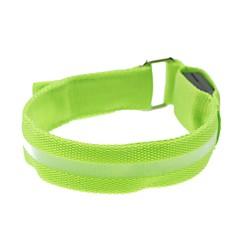 conduit d'affichage lumière de bracelet de bras un brassard vert (2xcr2032)