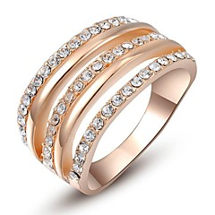 Sexy 18K Gold Plated Multi Shining Austria Crystal Cocktail Roma Charm Ring