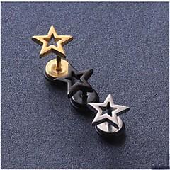 Niittikorvakorut Titaaniteräs Star Shape Musta Hopea Kultainen Korut Varten Häät Party Päivittäin Kausaliteetti