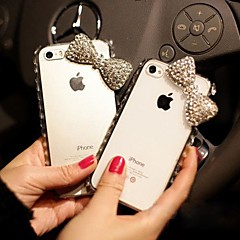 Bowknot  with Diamond Hard Back Cover  for iPhone 4 /  iPhone 4S