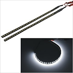 Carking™ 3528-32SMD-30CM Waterproof Car Decorative Flash Lamp Strip-Black (2pcs)