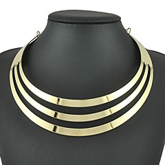 Necklace Choker Necklaces Jewelry Wedding / Party / Daily / Casual Fashion Alloy Silver 1pc Gift