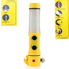 Multifunction 4 in 1 Car Flashlight warning Auto LED Emergency Cut belt Break