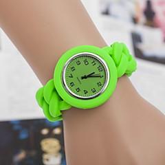 dammode plast kvarts armbandsur (blandade färger)
