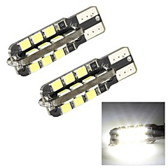 merdia t10 1w 250lm 24x2835smd LED valkoinen valo puolella valo / instrumentti lamppu / päiväajovalojen (2 kpl / 12v)