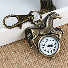 Unisex Retro Running Horse Pattern  Alloy Quartz Analog Keychain Watch(1pc)