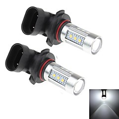 2Pcs 9005 15W 15x Samsung 2323 SMD 1250LM 6000K White Light LED for Car Headlamp (DC 10-30V)