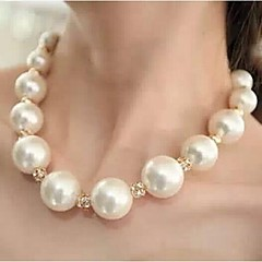 Women's Choker Necklaces Pearl Necklace Pearl Rhinestone Simulated Diamond Alloy Fashion Luxury Jewelry JewelryWedding Party Daily Casual