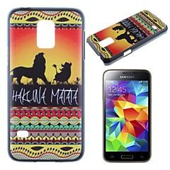 Hakuna Matata pe apus de soare leu rege model pc caz greu pentru Samsung Galaxy s5 mini G800