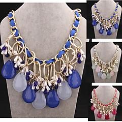 Fashion Luxury Crystal Gemstone Pearl Necklace