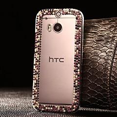 estuche rígido atractivos pedrería modelo plástico bricolaje para HTC uno m8