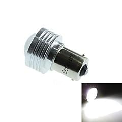 1156 (BA15S P21W) 3w 3cob 220-260lm 6500-7500k luz blanca bombilla LED de luz de marcha atrás del coche (DC12V / 1pcs)