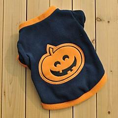 Gatos / Perros Camiseta Negro Ropa para Perro Invierno / Primavera/Otoño Caricaturas Mantiene abrigado / Halloween