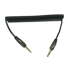 20~50cm 3.5mm Coiled AUX/Auxiliary Cable for Car/Home Speaker