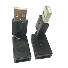 USB 2.0 Swivel Rotate 360º Connector Adapter AM/AF