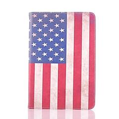 americana cuero patrón de la bandera caso de cuerpo completo para el mini iPad 3, iPad Mini 2, mini ipad