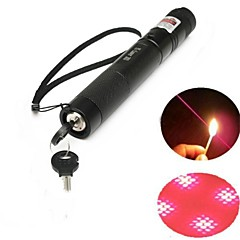 LT-303B Lockable Red Laser Pointer (2MW,650nm,1x18650,Black)