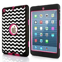 3 i 1 combo vågmönster pc& silikonfodral för iPad mini 3, iPad Mini 2, iPad Mini (blandade färger)