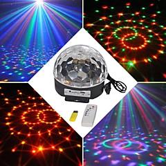 18w rgb llevó mp3 discoteca etapa dj pub cristal partido de la bola mágica luz eu (AC100-240V)