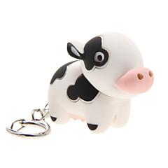 Oświetlenie LED / Brelok do kluczy Cow Kreskówka Brelok do kluczy / Oświetlenie LED / Zvuk Ivory ABS