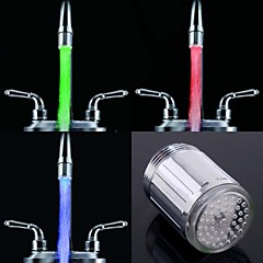 Stylish Water Stream Colorful Luminous LED Light Faucet Light (Plastic, Chrome Finish)