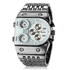 男性 腕時計 日本産クォーツ 軍用腕時計 3タイムゾーン ステンレス バンド