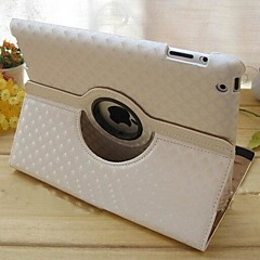 Diamond Pattern PU Leather Full Body Case with 360° Rotated Stand for iPad 2/3/4(Assorted Colors)