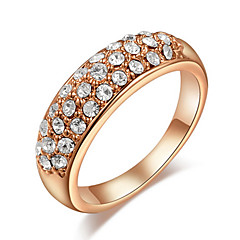 Ring Party / Daily / Casual Jewelry Gold / Zircon Women Statement Rings6 / 7 / 8 Gold / White