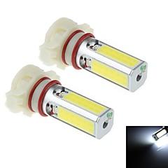 2pcs h16 24w 4x Nichia cob 1800lm 6000k branco levou para a lâmpada do farol do carro / luz de nevoeiro (DC10 ~ 30V)