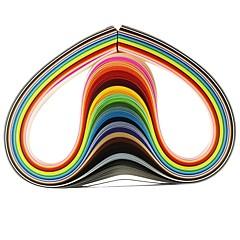 120Stk. 3Mmx53Cm Origami Papir (24 Farver X5 Stk / Farve) Gør-Det-Selv Håndværk Dekoration