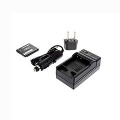Ismartdigi-Panasonic BCK7 E(680mAh,3.6V)Camera Battery+EU Plug+Car Charger For DMC-SZ1 SZ7 FH4 FH6 FH8 FH25 S1 S3GK