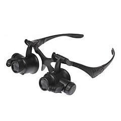 Очки-микроскоп с 10x/15x/20x/25x увеличением и подсветкой для ювелиров