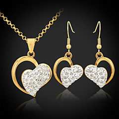 U7® 18K Gold Plated Austrian SWA Rhinestone Hearts Jewelry Sets Jewelery Gift For Women