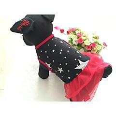 Kutyák Ruhák Piros Fekete Kutyaruházat Nyár Tavasz/Ősz Sztárok Casual/hétköznapi